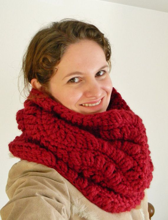 This Is A Crochet Pattern For Chunky Crochet Cowl Scarf Crochet
