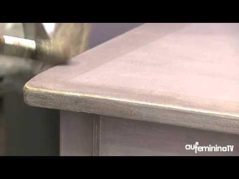Patiner un meuble - tutoriel vidéo  comment patiner un meuble - comment ceruser un meuble