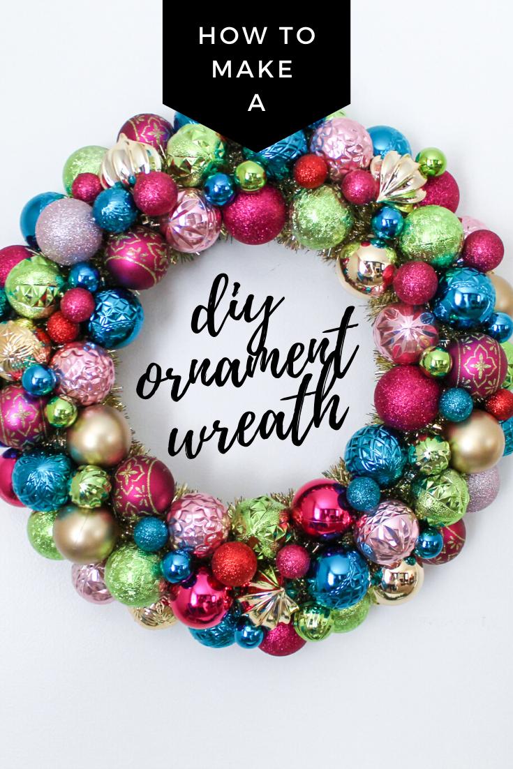 How to Make A DIY Christmas Ornament Wreath Christmas
