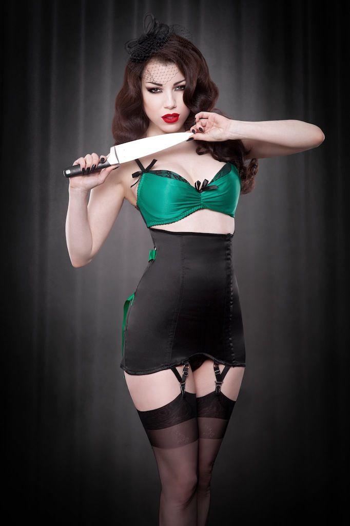 b92ce32bda62e Lingerie Wishlist: Kiss Me Deadly Fan Laced Girdle | Lingerie | Kiss ...