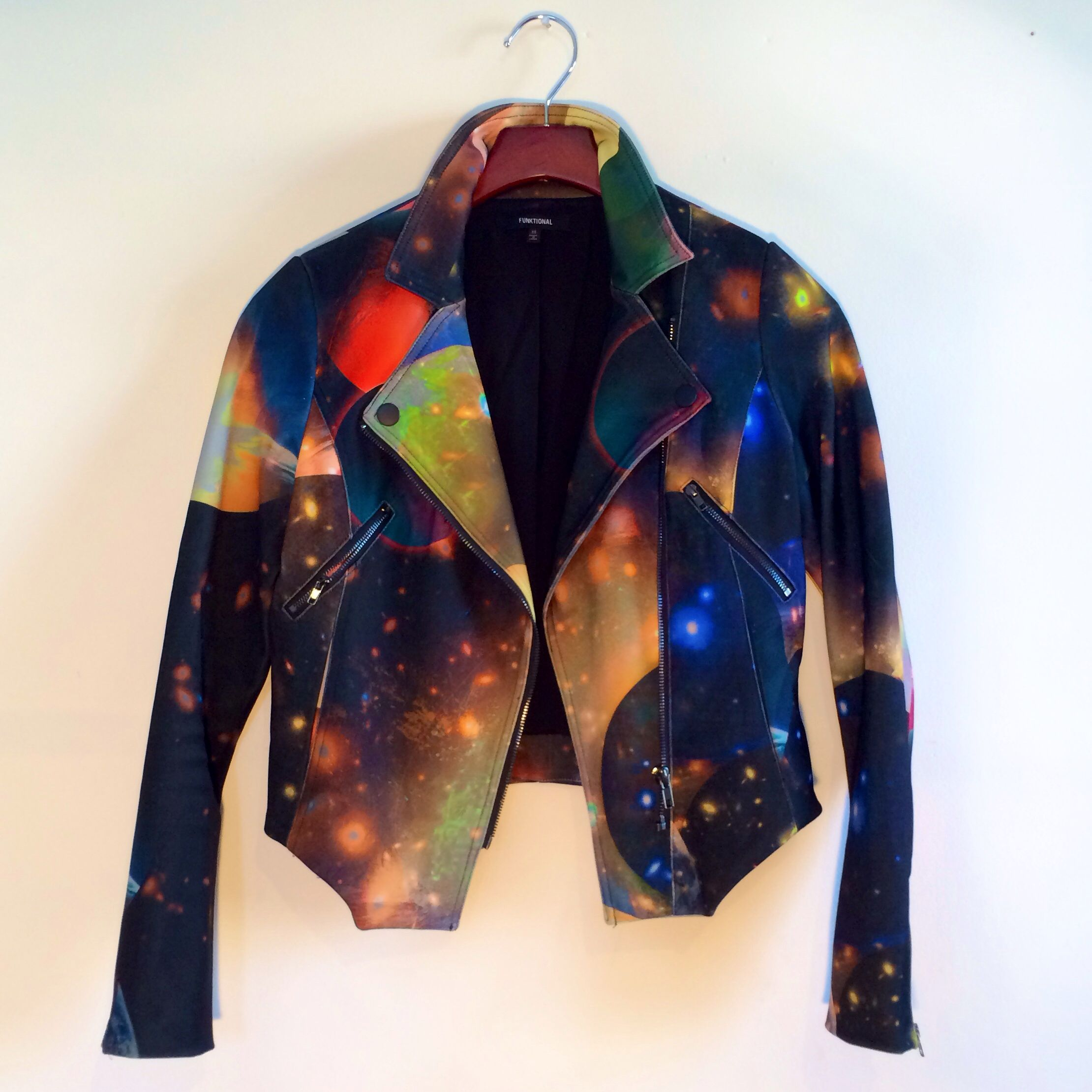 Cosmic dreamer • the cosmic moto jacket by Funktional, the perfect topper to an all black everything outfit • on sale for $115 at shopblacksalt.com