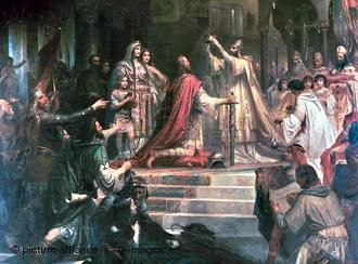 Charlemagne Coronation Kaulbach Friedrich-kalbach-1861 ...