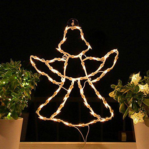 Weihnachtsbeleuchtung Fenster Günstig.Fenster Silhouette Weihnachten Weihnachtsdeko Fensterbilder