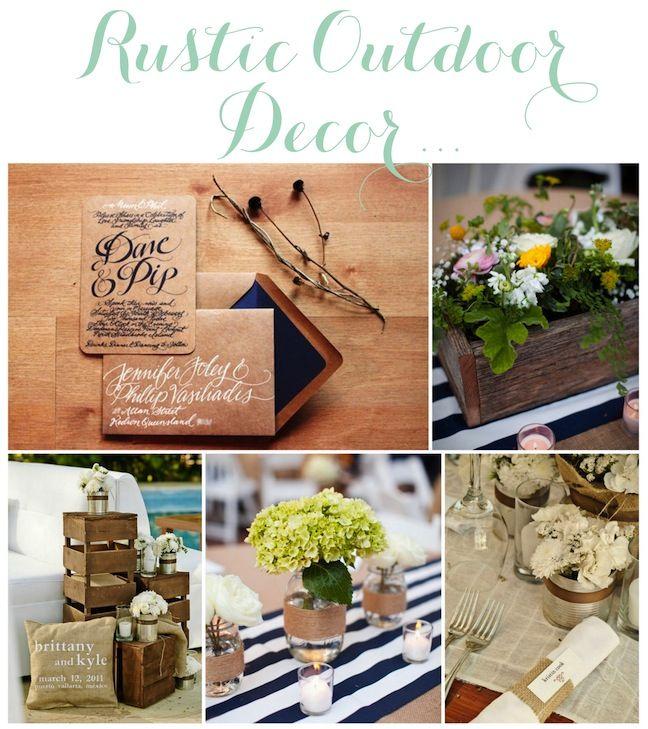 Rustic Outdoor Wedding Ideas: Rustic Outdoor Wedding Decor!