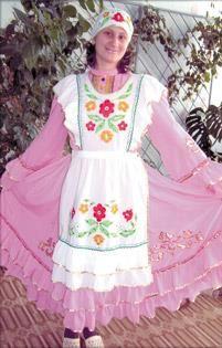 Выкройка платья татарского