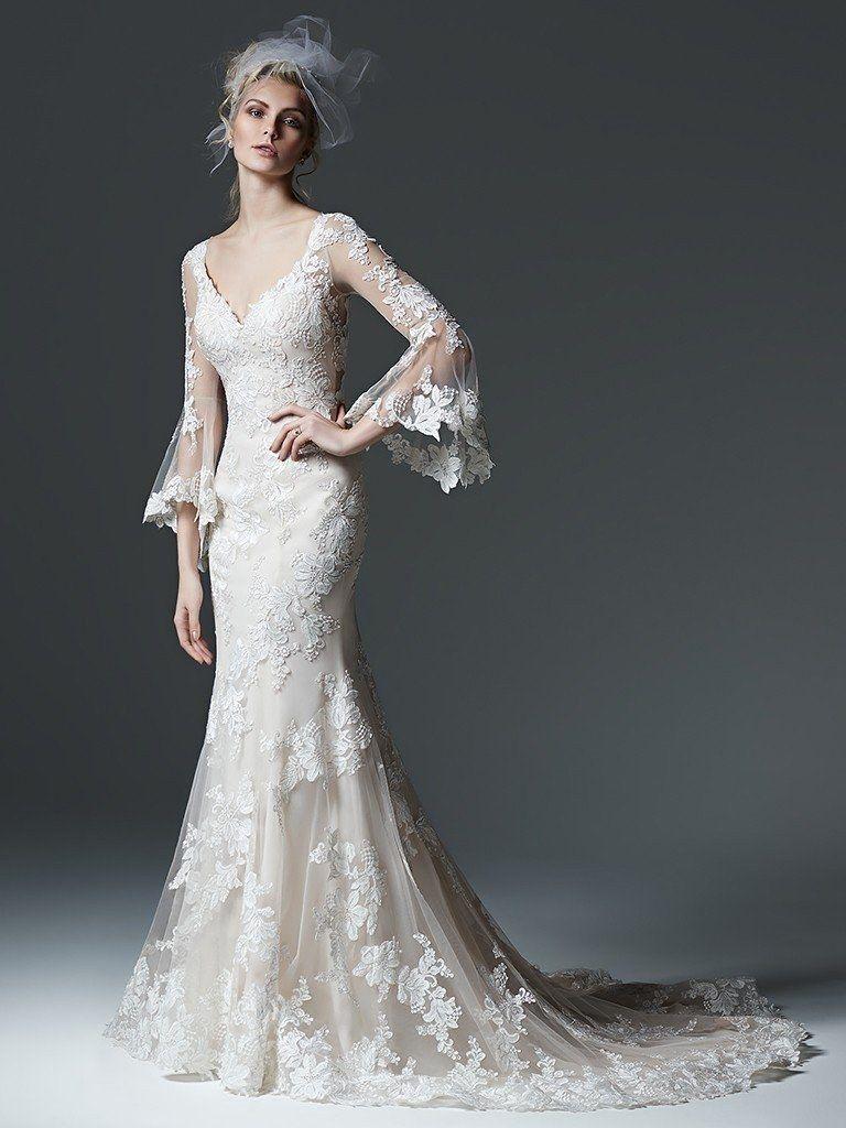 Wedding Dress Looks We Love Dramatic Sleeves Brides Wedding Dress Sleeves Wedding Dress Styles Sottero And Midgley Wedding Dresses