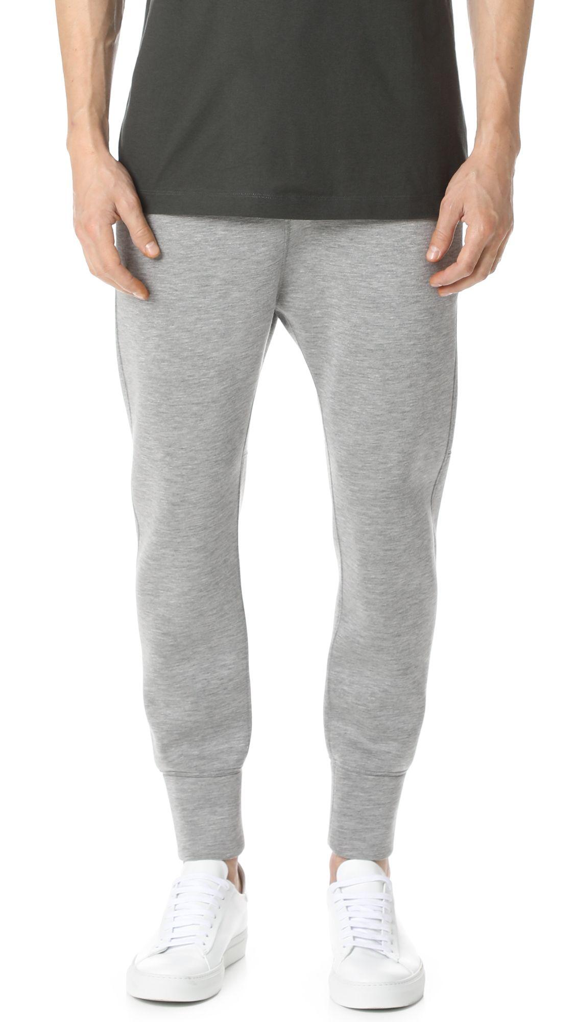 96142f199de7f3 HELMUT LANG Sponge Fleece Curved Leg Track Pants.  helmutlang  cloth  pants