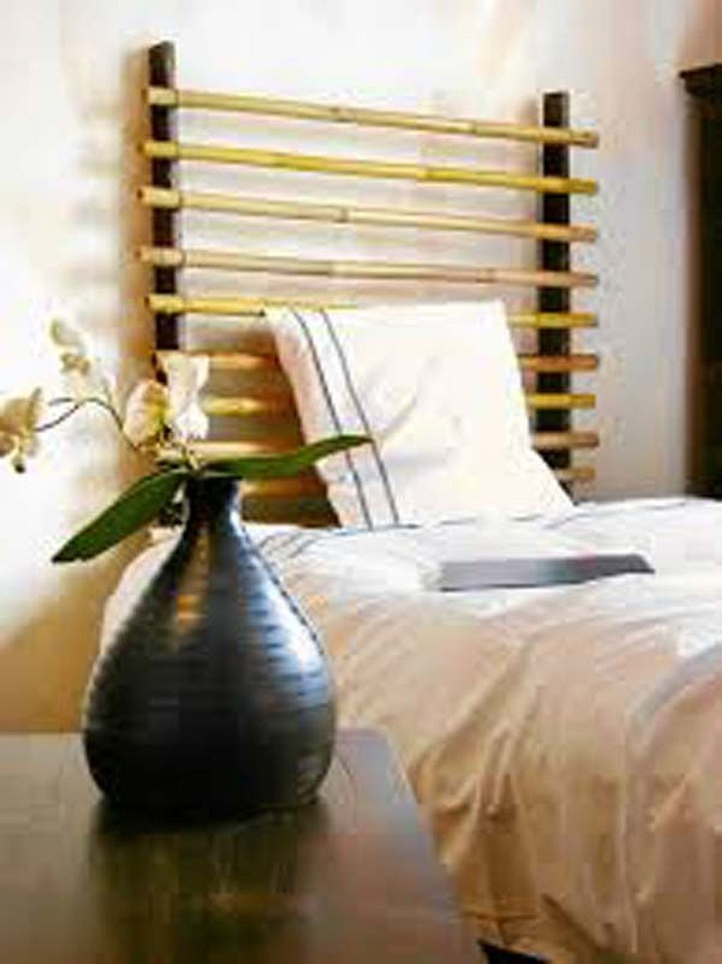 Pin by Beverly Lyons on Bedrooms in Bamboo Bamboo headboard DIY