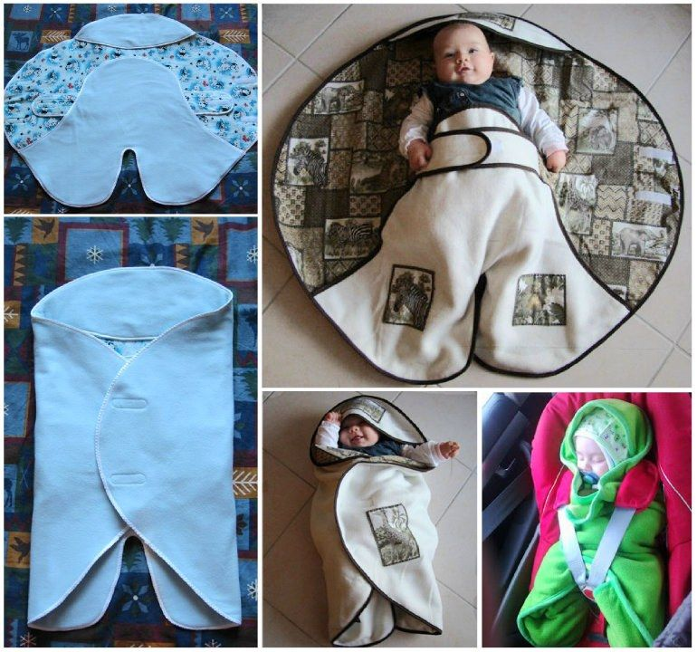 Make Your Own Shining Star Fleece Baby Wrap Wonderful Diy
