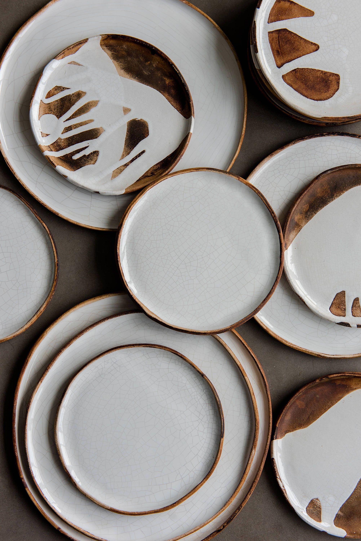 Handmade Stoneware Crackle Plates Stoneware Dinnerware Dinner Etsy In 2020 Stoneware Dinnerware Ceramic Dinnerware Set Rustic Tableware