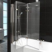 Duschabtrennung Badewanne Duschwand Badewannenfaltwand Glas Dusche