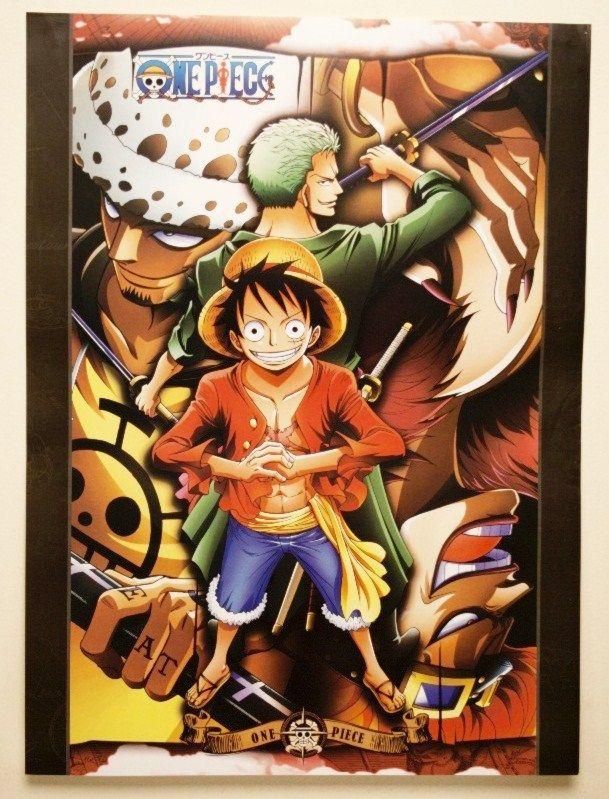One Piece - Poster of Monkey D luffy,Zorro and Trafalgar Law 42cmx57cm | myMzone