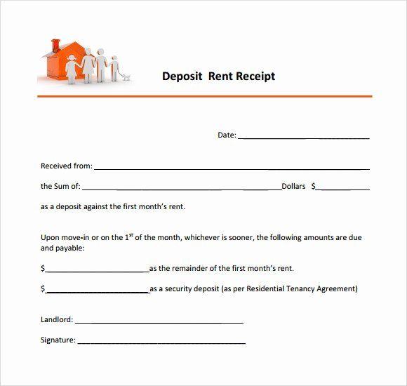Rental Deposit Receipt Template Beautiful 10 Printable Receipt Templates Free Samples Examples Receipt Template Word Template Resume Template