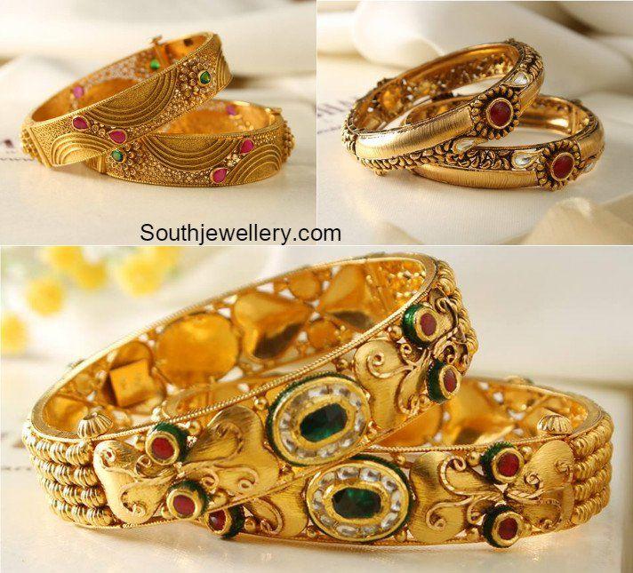 Antique Gold Bangles photo Jewellery I like Pinterest