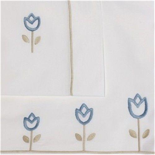 Tulipanes beige/az. celeste