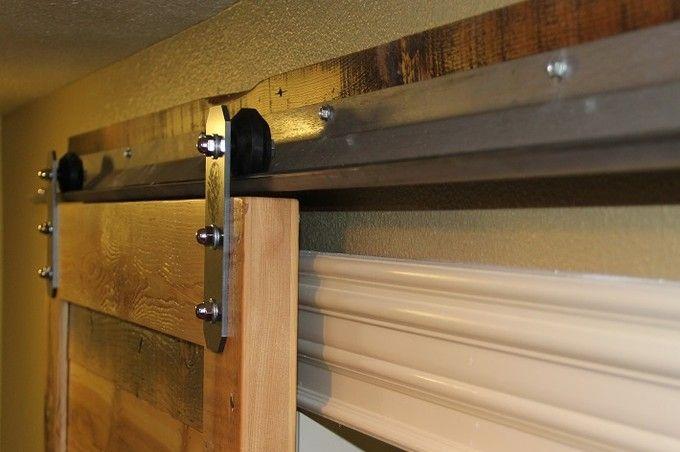 Low Profile Barn Door Hardware Flat Track Sliding Door Kits