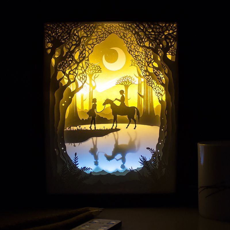 Light Paper Sculpture 3d Lamp Remote Control Lamp Lamp Diy Hand Creative Gift Lamp Bedroom Bedside Nightlight Lampbedroo 3d Paper Art Diy Art Diy Art Projects