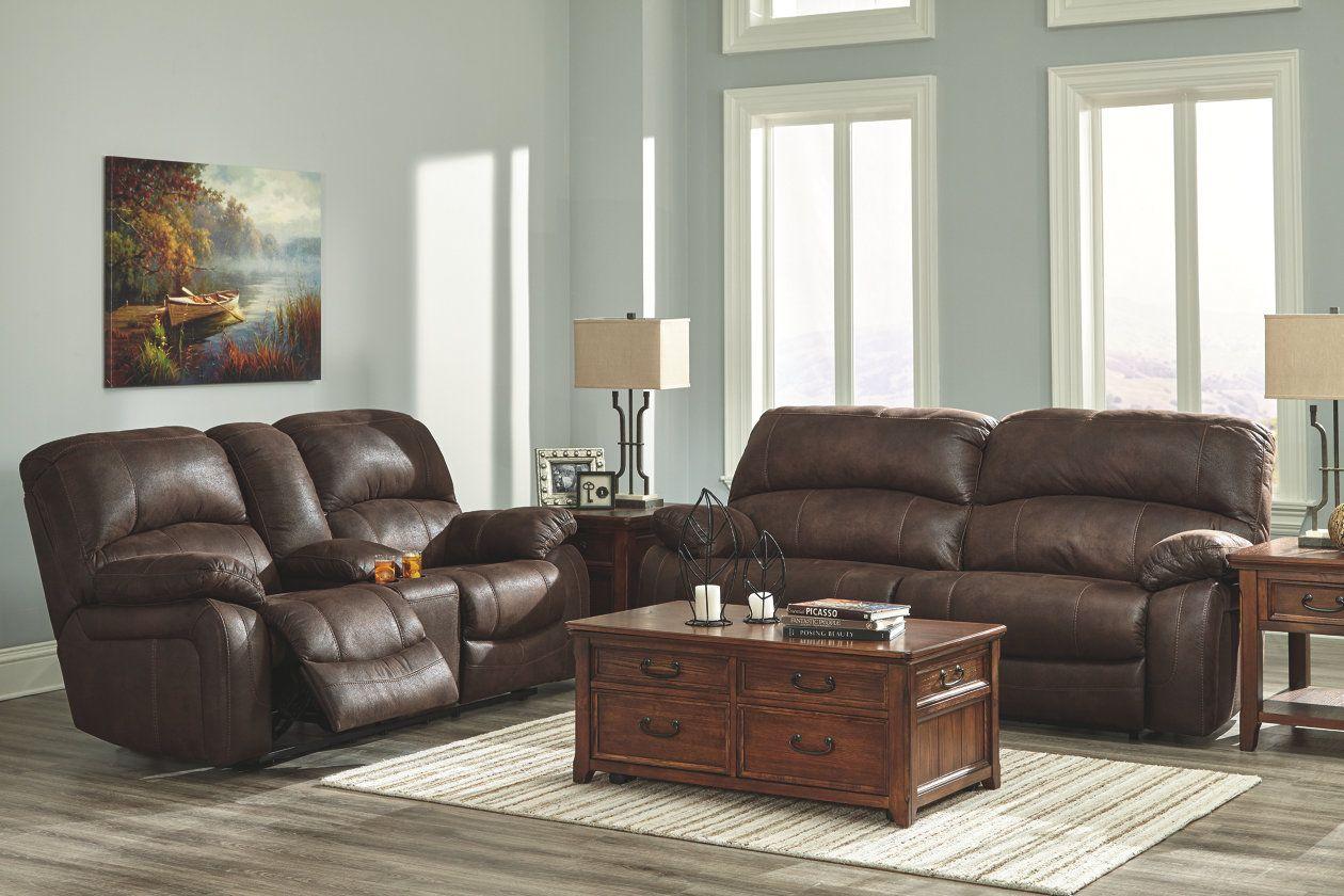 Zavier Glider Reclining Loveseat With Console Ashley Furniture Homestore Furniture Grey House Furniture Home Interior Design