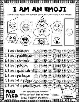 Fourth Grade Emoji Math Math, Worksheets and Math skills