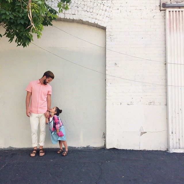 """Daddy-daughter duo for Zooey Magazine's """"Dressing Simple."""" #zooeymagazine"""