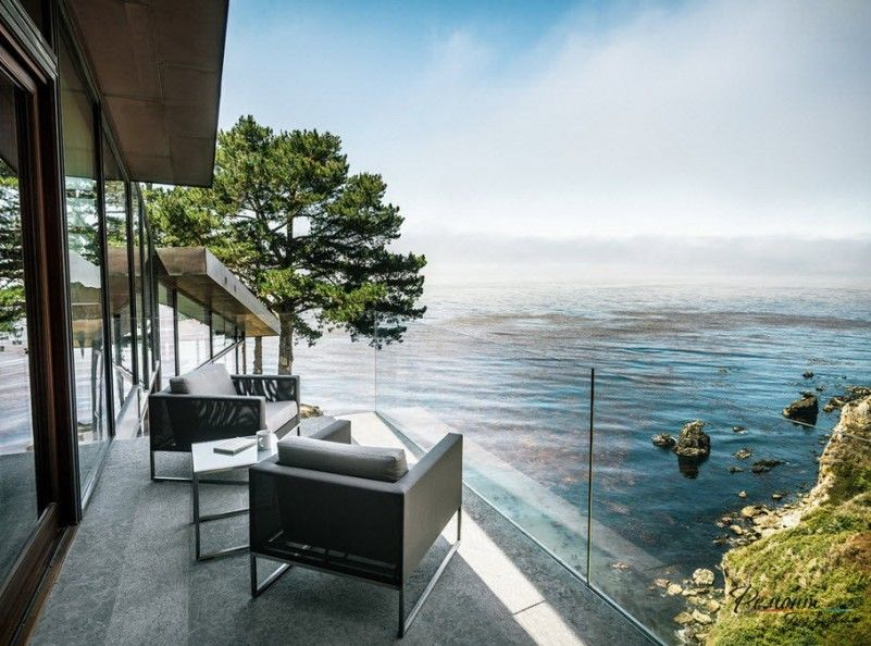 Beautiful View From The Balcony Of A Stunning Glass House Design