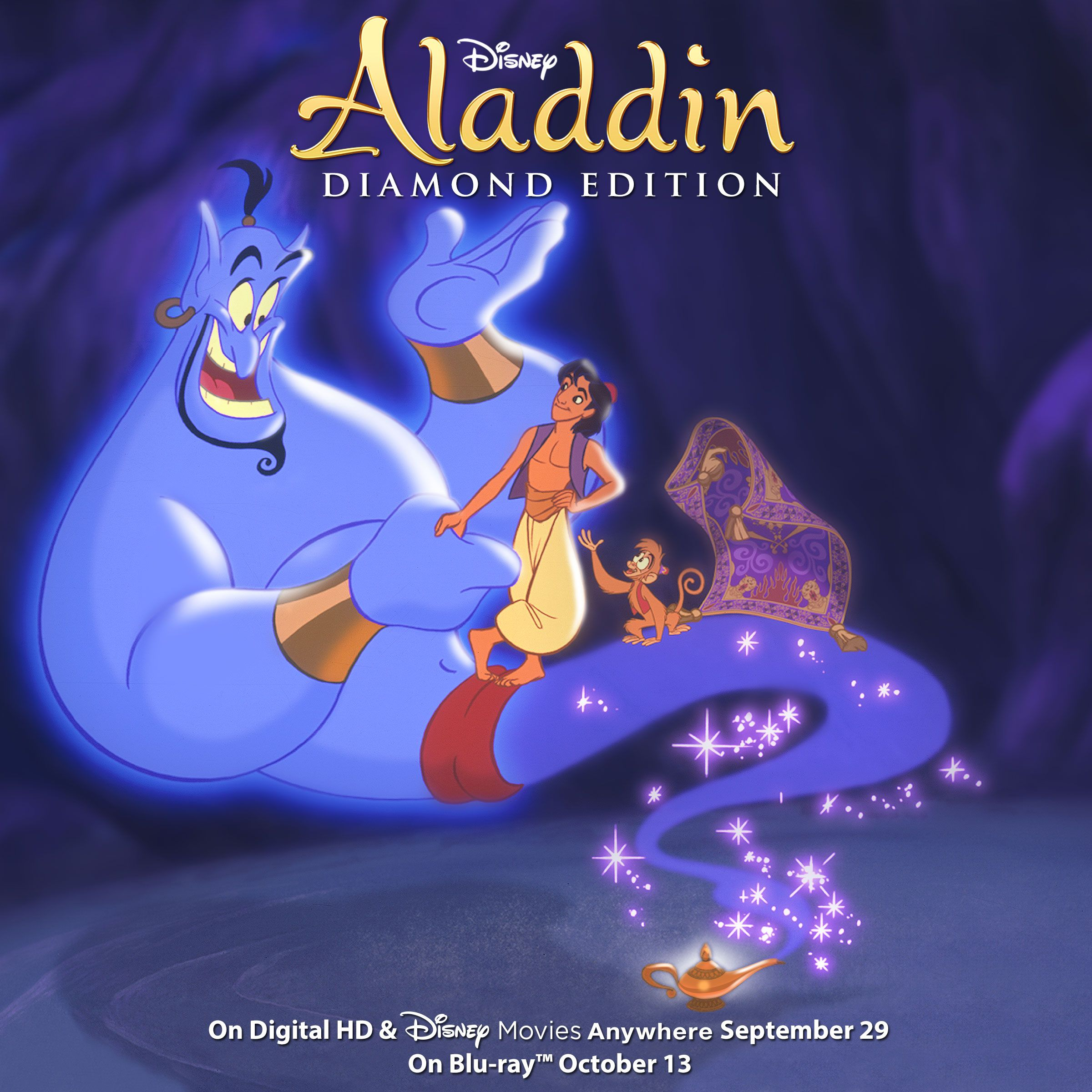 What a wish come true! Aladdin Diamond Edition is coming to Blu-ray, Digital HD and Disney Movies Anywhere. Pre-order today: http://movies.disney.com/aladdin/products