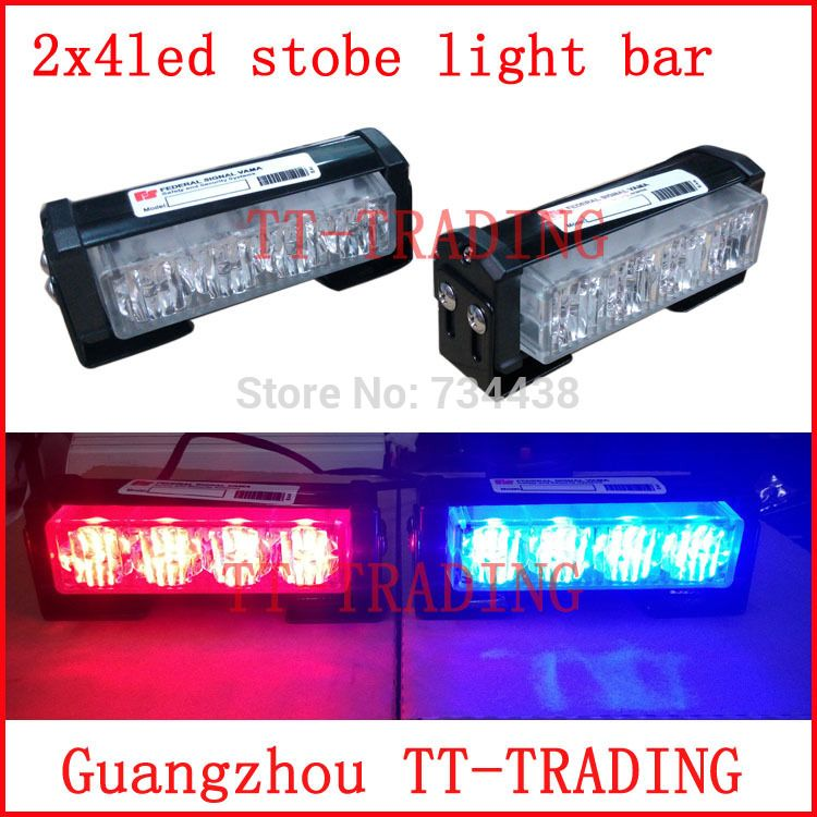 Strobe Lights For Cars Endearing 2X4 Led Police Strobe Lights Vehicle Strobe Light Bar Car Warning Review