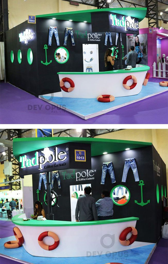 Exhibition Stall Design For Garments : Boat themed garment exhibition stall design at mumbai india