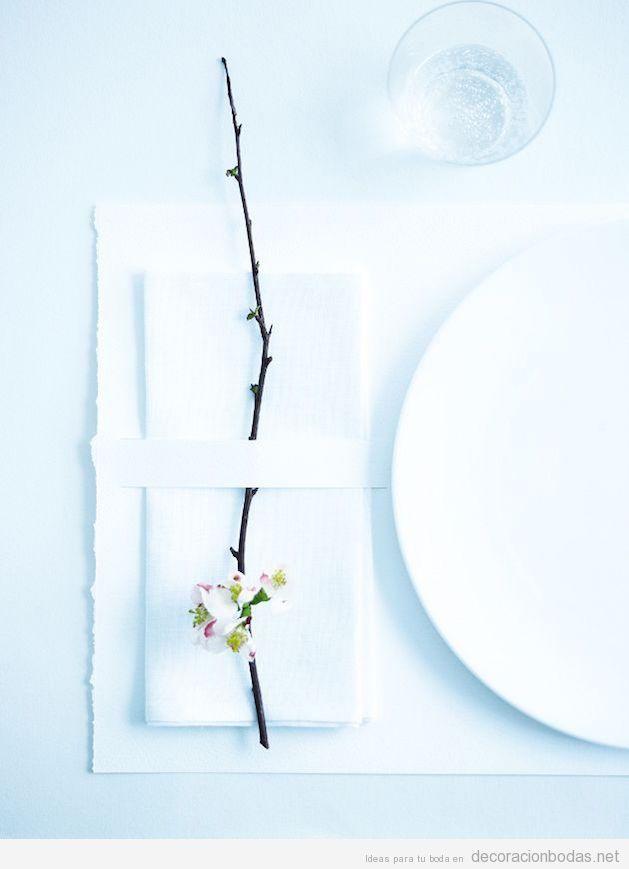 Decoración minimalista centros y mesas de boda 2 15 vale