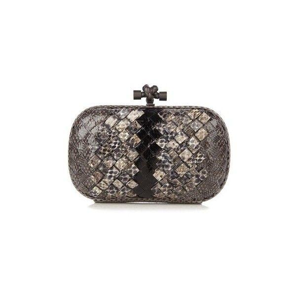 Bottega Veneta Knot intrecciato ayers snakeskin clutch (£1 cd127f6fc6c5d