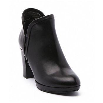 9a146443c3b4 Boots Birkin en cuir noir - Ann Tuil - Ref  1239815