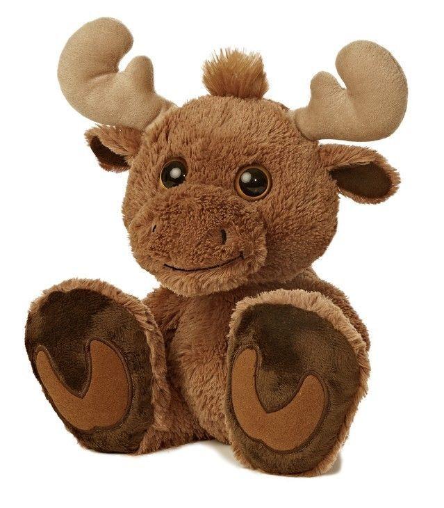 Stuffed Animal Plush 10 Baby Moose Taddle Toes Aurora Big Feet