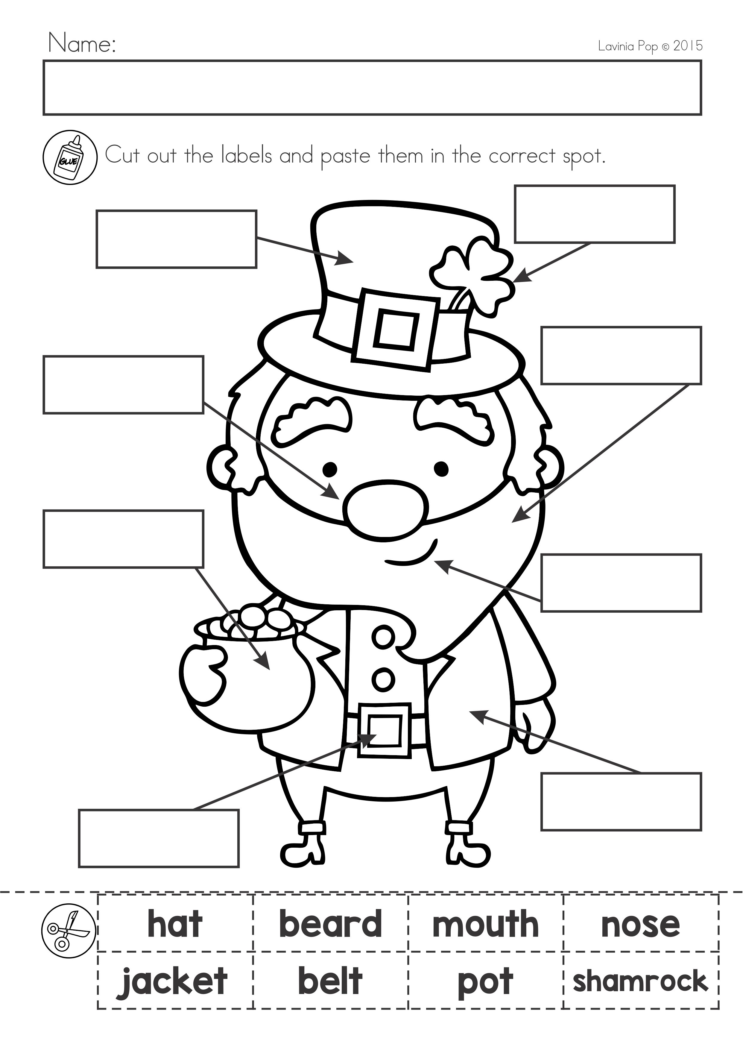 St Patrick S Day Math Literacy Worksheets Activities No Prep St Patrick Day Activities St Patricks Day Crafts For Kids March Kindergarten [ 3508 x 2483 Pixel ]