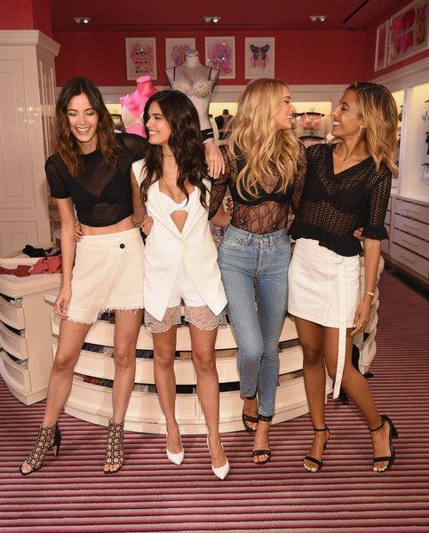 5203b77dd9 Victoria s Secret Angels Elsa Hosk and Sara Sampaio with besties Sadie  Newman and Madison Utendahl celebrate