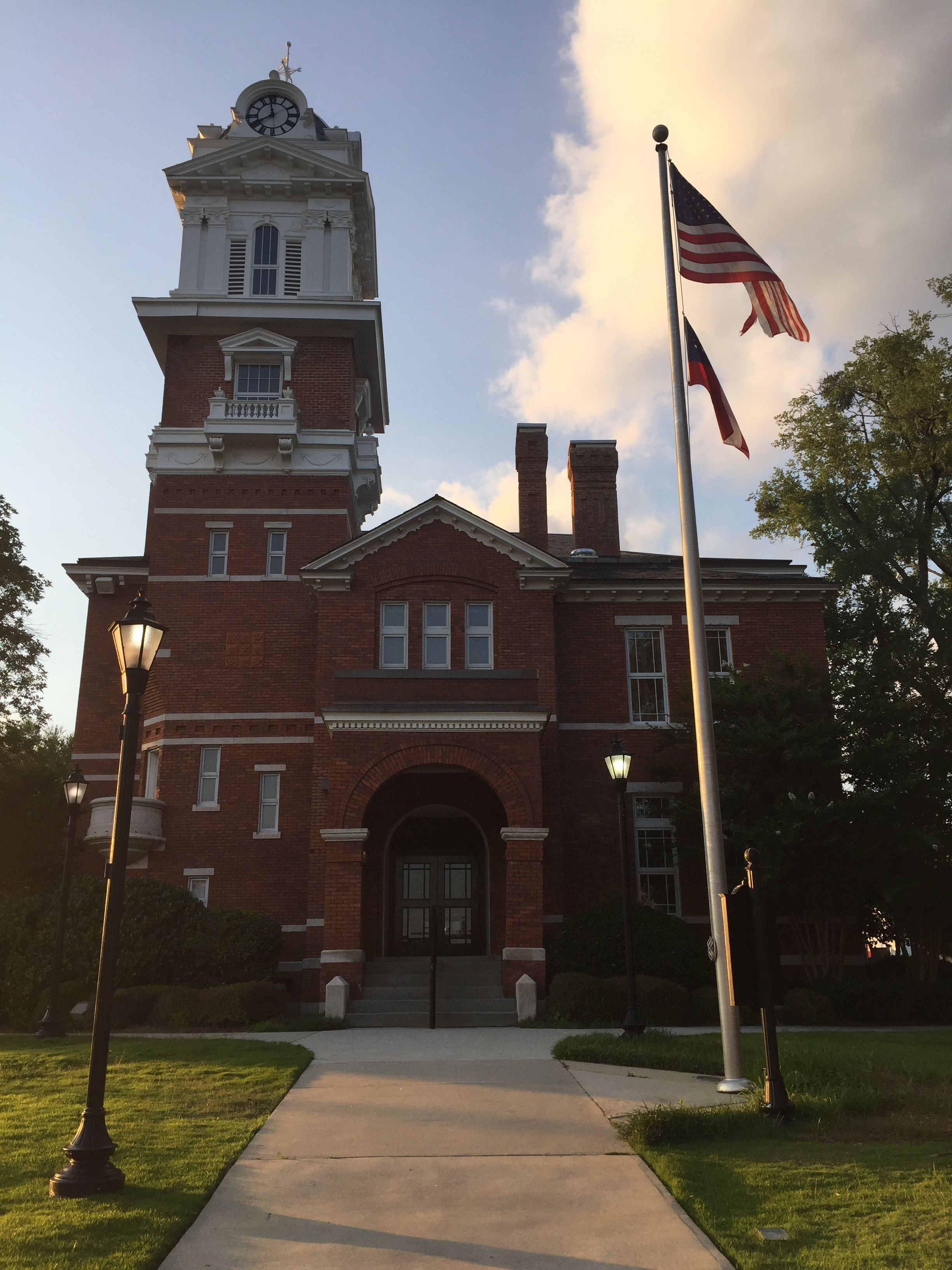 Historic County Courthouse. Lawrenceville