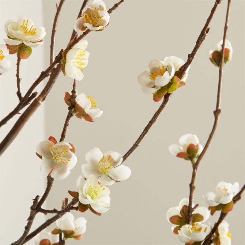 Artificial White Cherry Blossom Flower Branch Reviews Crate And Barrel Cherry Blossom Flowers Cherry Blossom Branch White Cherry Blossom
