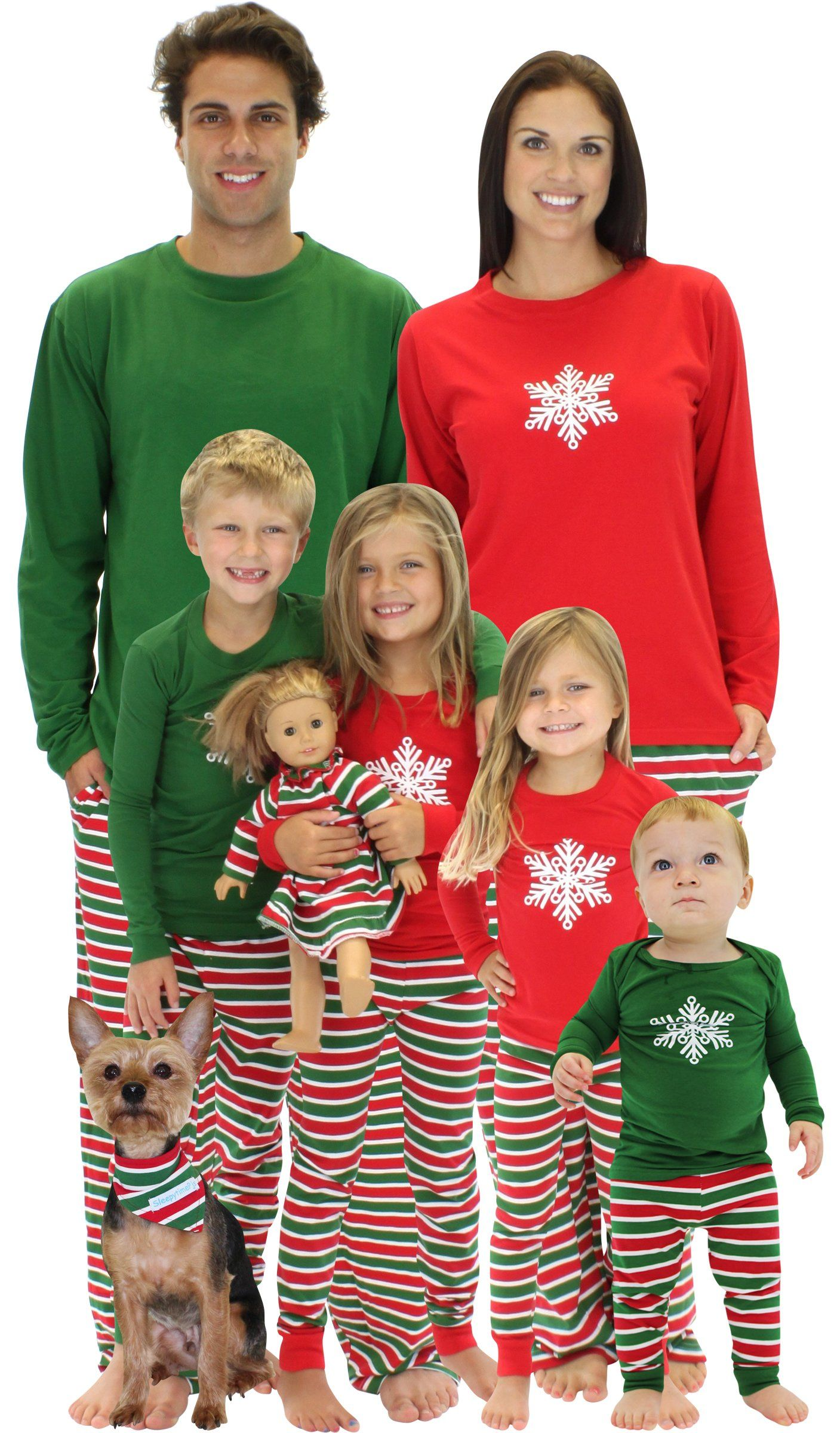 SleepytimePjs Christmas Family Matching Pajamas (FM