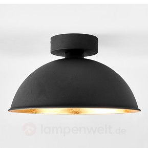 gold schwarze deckenlampe stacy mit osram leds flur. Black Bedroom Furniture Sets. Home Design Ideas
