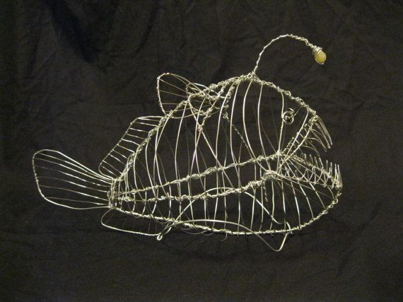 Angler Fish Aluminum Wire Sculpture