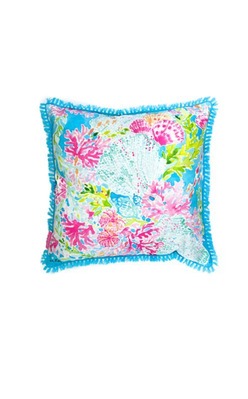 9b62e658731cca We love throw pillows! These indoor/outdoor square pillows are perfect for  a beach house or poolside patio.