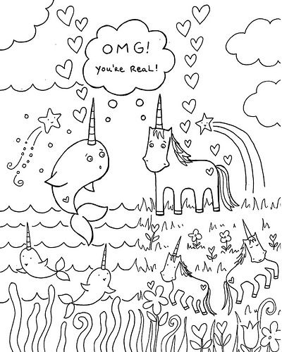 Free Download Narwhal Unicorn Coloring Book Page Birthday Coloring Pages Unicorn Coloring Pages Happy Birthday Coloring Pages