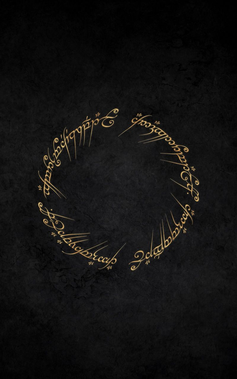 Inscription Of The One Ring Lord Of The Rings Tablet Wallpaper Lord