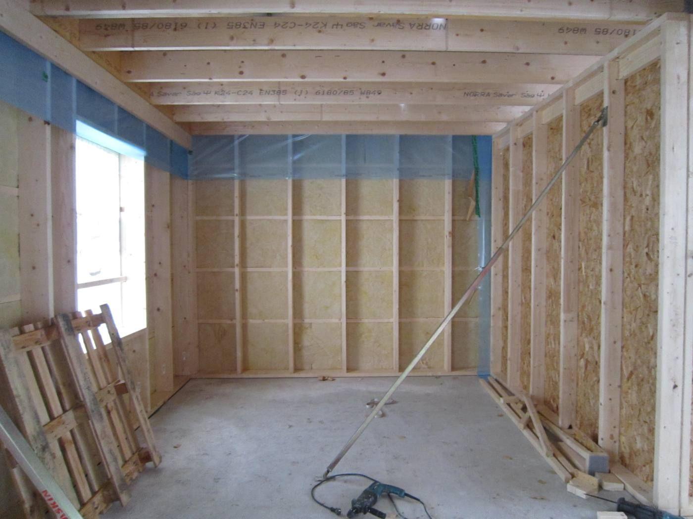 Swedish Platform Framing in practice- house under construction in ...