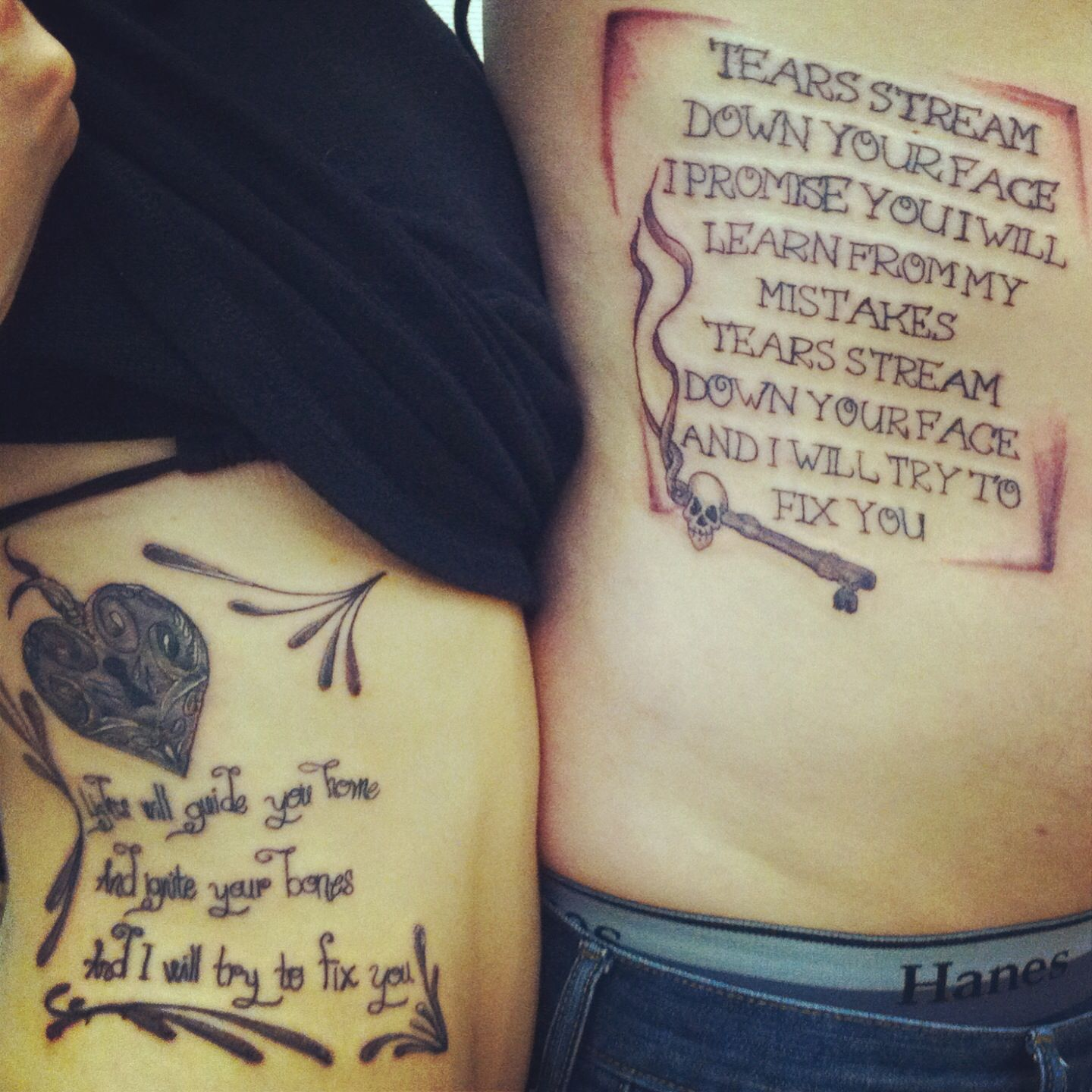 Tattoo Quotes Song Lyrics: Couples Tattoo. Lyrics From Our Favorite Coldplay Song