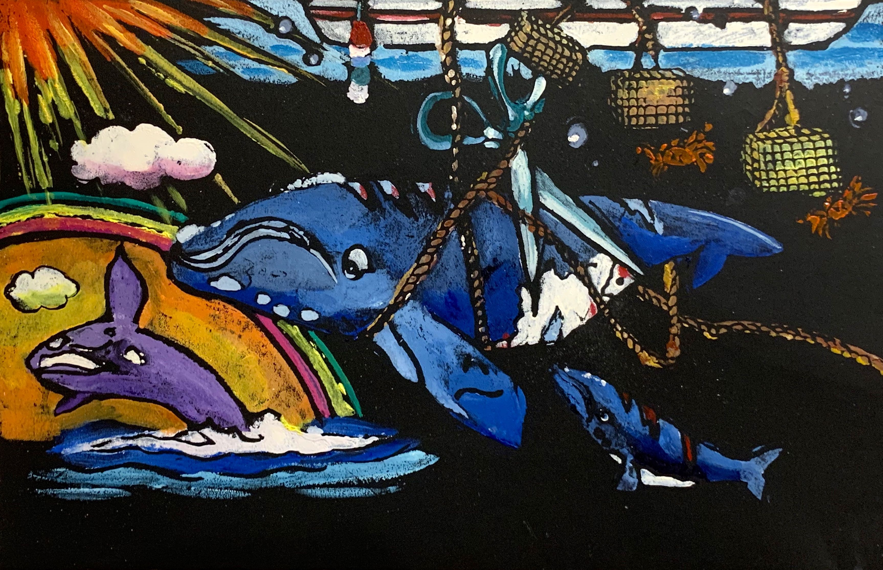 Bow Seat In Partnership With Conservation Law Foundation Launched The 2019 Healthy Whale Healthy Ocean Challenge To Engage Lo Whale Marine Ecosystem Artwork