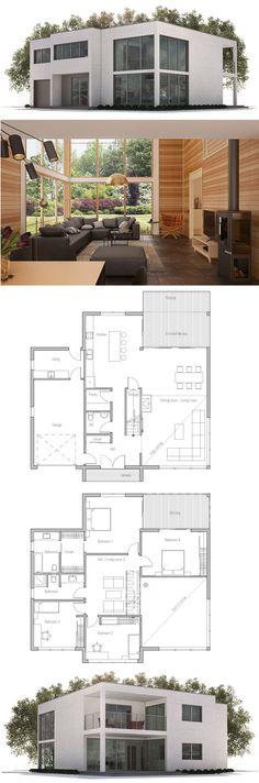 Plan de Maison, Maison Minimaliste ev plani Pinterest House