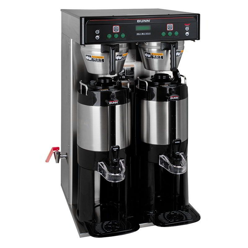Bunn Icb Twin Tall Coffee Brewer 17 5 Gal Hr Capacity 3 Brew Button