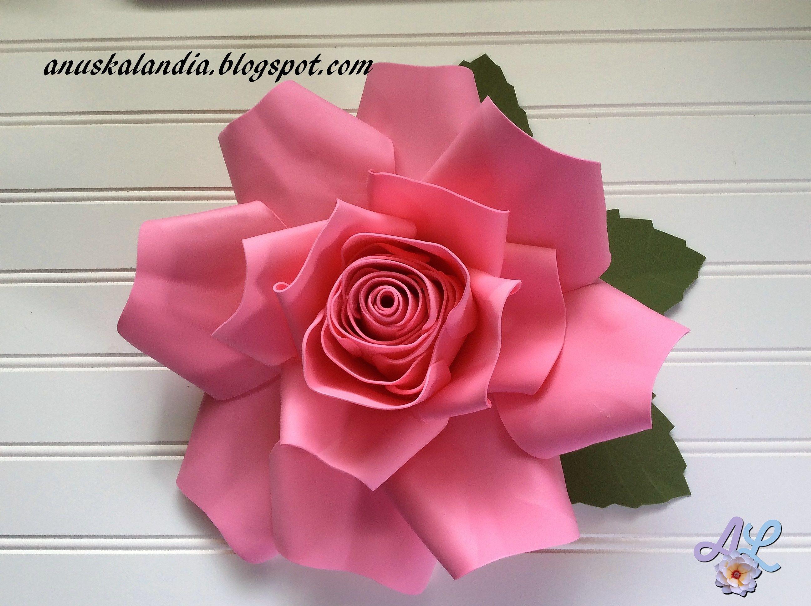 Rosa gigante goma eva o foamy | Goma eva, Rosas en goma eva, Rosa gigante