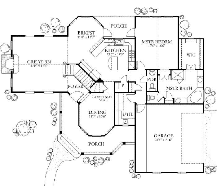 Country Style House Plan 4 Beds 2 5 Baths 2202 Sq Ft Plan 80 125 Country Style House Plans Floor Plans House Plans