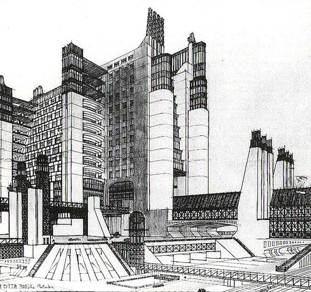 Futurist Architecture I ANTONIO SANT/'ELIA Vintage Architecture Futurism Poster